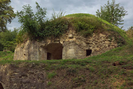 ww1: Shelter on top of the Fort de Conde Pille Editorial