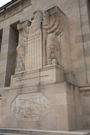 ww1: American Eagle on the facade of the American Monument