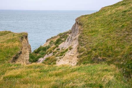 dangerously: Dangerously collapsed cliff near Cap Griz Nez