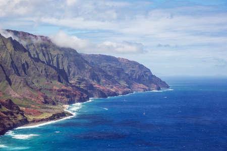 ridges: Rugged ridges and beaches on the Na Pali Coast
