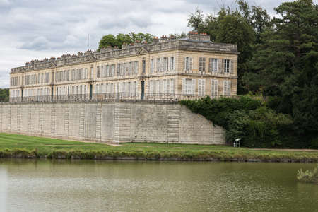 chantilly: View of Enghien Castle next to the Ch� � teau de Chantilly