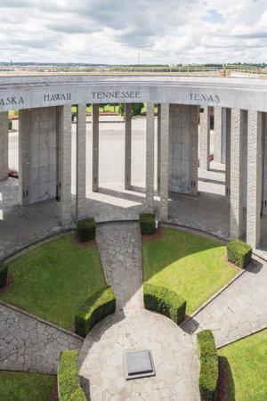 bulge: Editorial: Bastogne, Belgium, August 6, 2016 - View inside the Mardasson Memorial Editorial