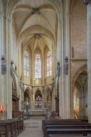 meuse: Editorial: Avioth, Meuse, France, September 3, 2016 - Inside the Basilica of Avioth