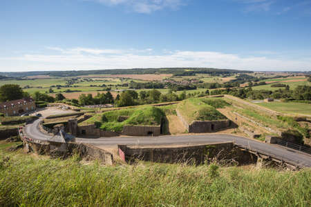meuse: Montmedy, Meuse, France, September 3, 2016 - Landscape around Montmedy seen from the local fortress