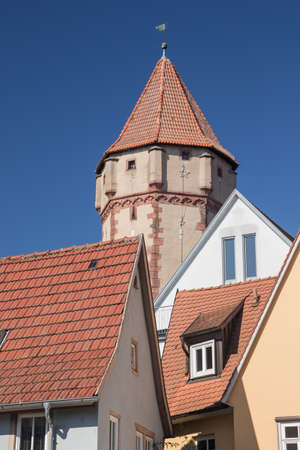 wertheim: Pointed Tower, seen from the centre of Wertheim along the Romanitc Road