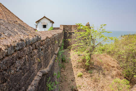 View outside the walls of Fort Reis Magos on the west coast of India