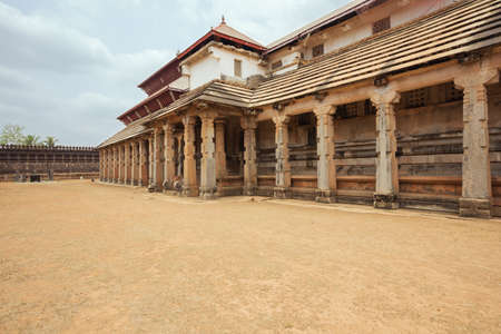 jainism: Outside view of the Temple of Thousand Pillars in Moodabidri