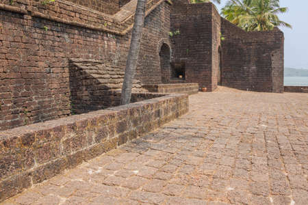View inside the walls of Fort Reis Magos on the west coast of India