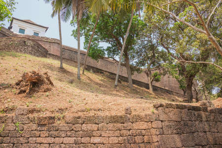 At the foot of the walls of Fort Reis Magos on the west coast of India Imagens