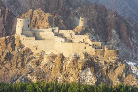 muttrah: The Muttrah Fort in early morning light, seen from the port of Muscat