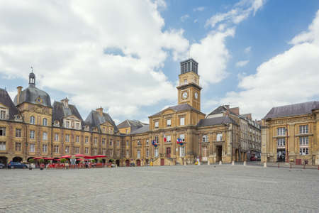 Editorial: SEDAN, FRANCE, June 18, 2017 - View of the Place Ducale in the center of the city