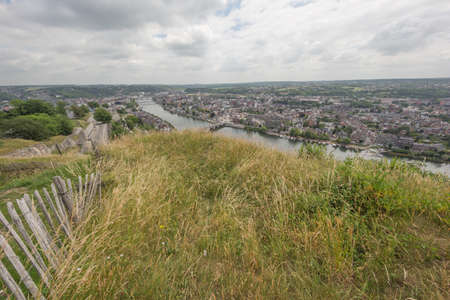 The Meuse running through Namur, seen from the citadel Stock Photo