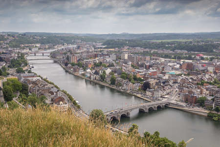 Bridges over the Meuse at Namur, seen from the citadel