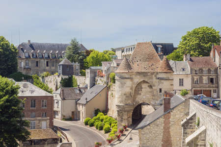 Looking inside the Porte dArdon viewed from the city wall of Laon