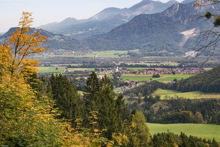 rack mount: Arriving at Brannenburg from Wendelstein in the Chiemgau Alps