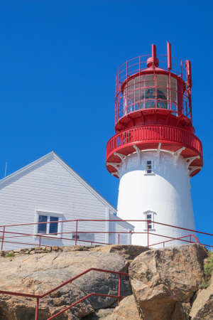 Arriving at the Lindesnes lighthouse and the house of the lighthouse keeper