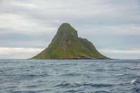 Bleiksoya the bird island seen from a distance