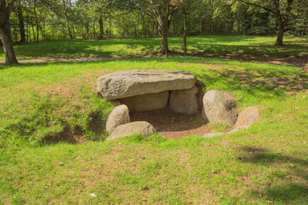 On top of the tumulus of Dolmen D13 in the vicinity of Eext