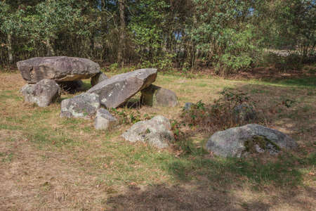 Left hand side view of Dolmen D35 in the vicinity of Valthe
