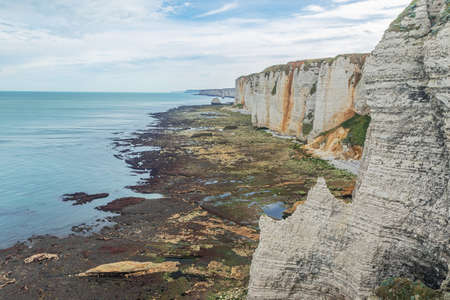 The cliff coast to the north of the falaise damont on the Alabaster Coast