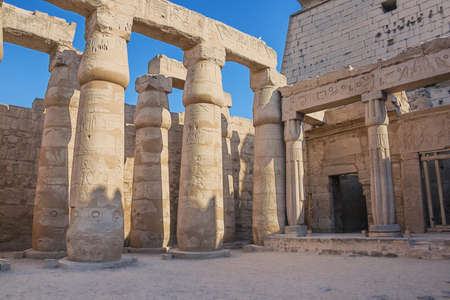 The court of Ramesses II in the temple of Luxor