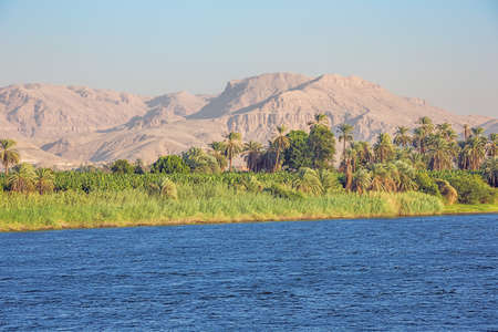 Desert mountains close to the Nile valley at Nagaa Al Muhdat