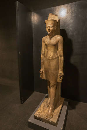 Editorial: LUXOR, EGYPT, October 16, 2018 - Statue of the God Amon in the Luxor museum