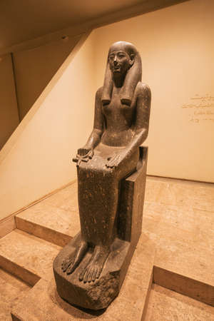 Editorial: LUXOR, EGYPT, October 16, 2018 - Statue of the goddess Iwnit in the Luxor museum Редакционное