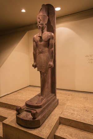 Editorial: LUXOR, EGYPT, October 16, 2018 - Statue of Amenhotep III in the Luxor museum