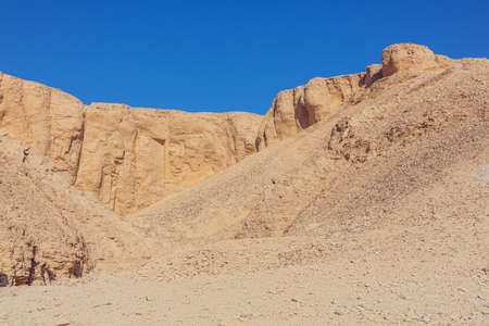 Arid mountains surrounding the Valley of the Kings near Luxor 免版税图像