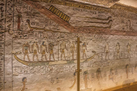Painting of Apophis on a wall in the tomb of Ramesses III in the Valley of the Kings