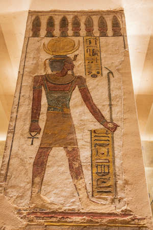 Painting of the Pharaoh as a god in the tomb of Ramesses III