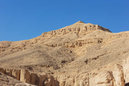 View of the rugged peaks around the Valley of the Kings in the vicinity of Luxor