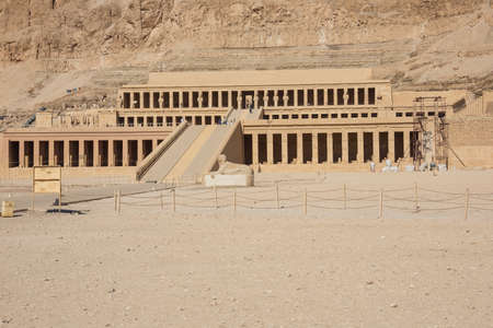 Editorial: LUXOR, EGYPT, October 17, 2018 - General view of the Mortuary Temple of Hatshepsut in the vicinity of Luxor Фото со стока