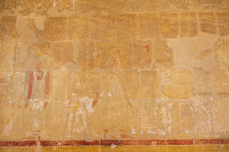 Wall paintings in the Temple of Hatshepsut in the vicinity of Luxor