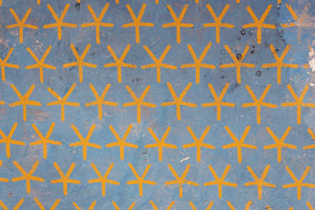 Ceiling with painted stars in the Temple of Hatshepsut in the vicinity of Luxor