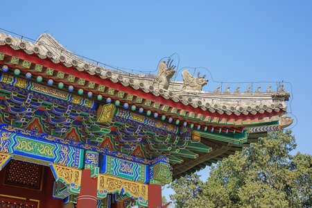 Imperial roof decoration on a building in the Summer Palace, the former imperial garden