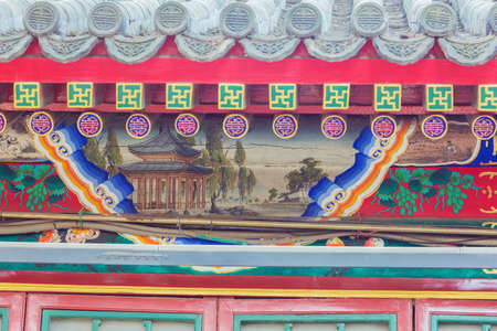 Decorative paintings in the Summer Palace, the former imperial garden