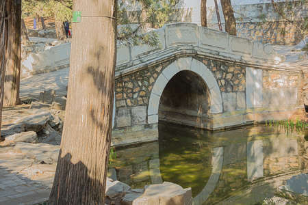 Small stone bridge in the Summer Palace, the former imperial garden