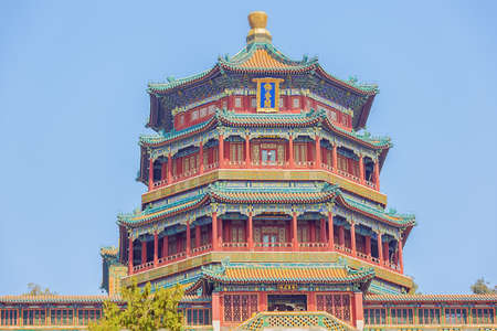 Close up of the Tower of Buddhist Incense, in the Summer Palace