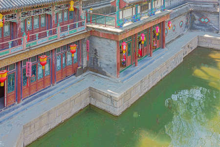 Looking down on Suzhou Street, in the Summer Palace 写真素材