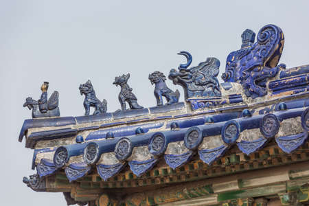 Imperial roof decoration on a building in the Temple of Heaven