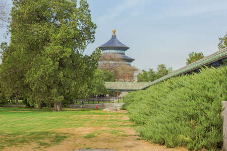 View of the Temple of Heaven from the park in Beijing