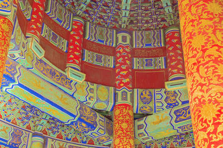 Detail of the ceiling of the Hall of Prayers for Good Harvests, seen from the gate