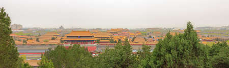 Overview of the Forbidden City, seen from the Jingshan Park in Beijing
