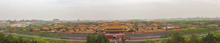 Large panorama of the Forbidden City, seen from the Jingshan Park in Beijing 写真素材