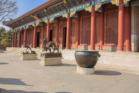 Bronze dragon and phoenix at the Summer Palace, the former imperial garden