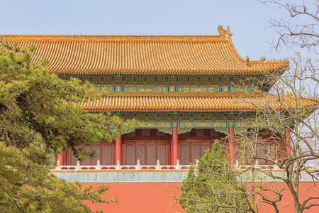 The first Hall of the forbidden city coming from Tiananmen Square