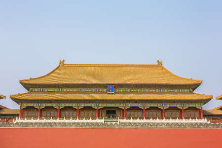 Southern entrance gate of the Forbidden City coming from Tiananmen Square 報道画像