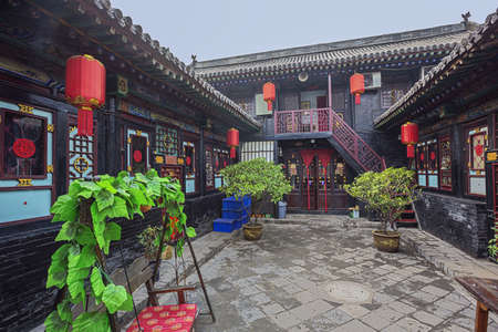 Courtyard in a traditional Chinese residence in Pingyao